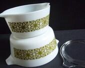 Pyrex Verde Casseroles - Pyrex Verde - Vintage Pyrex Casserole - Vintage Kitchen - Vintage Pyrex