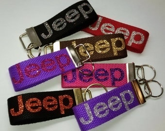 Jeep Key Chain - Only In a Jeep - Jeep Glitter Key Chain - Jeep Accessory - Jeep Accessories - FREE SHIPPING