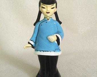 Gorgeous Vintage Ceramic Chinese Girl