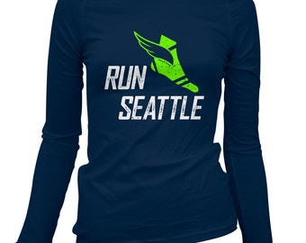 Women's Run Seattle V3 Long Sleeve Tee - S M L XL 2x - Ladies' Seattle T-shirt, Marathon, Running - 3 Colors
