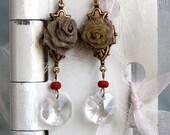 Antique Button Earring an...