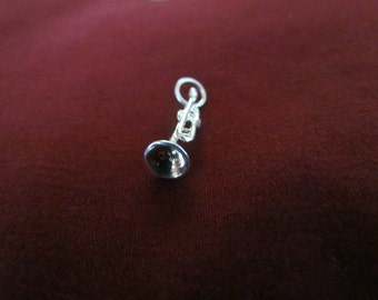 3D Trumpet Vintage New Old Stock Sterling Silver Charm SALE PRICED 50%