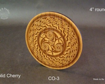 Solid Cherry Wood Coaster with Free Shipping.  CO-3