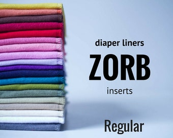 Zorb Diaper Liners Soakers Doublers Cloth Diaper Inserts  - Choose Your Colors -Size and Quantity