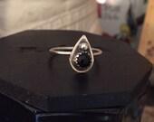 Mini Black Onyx Planchette Ring size 7
