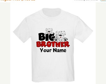 ON SALE Big Brother Dalmations New Big Borther Puppy Personalized T Shirt