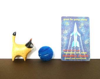 Neptune Planet Catnip Cat Toy - Needle Felted Wool