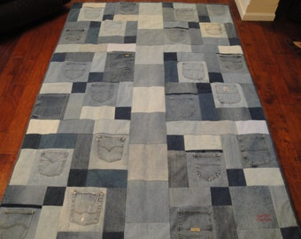 Denim Recycled Blue Jean Quilt