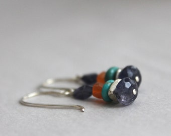 Sundance Style Mixed Gemstone Earrings