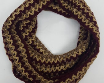 Crochet V-Stitch Infinity Scarf Cowl Multi-Color, Light Scarf, Spring Scarf, Fall Scarf, Women's Accessories Winter Wear Made To Order