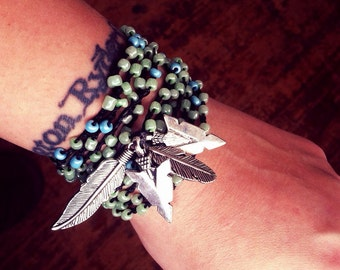 Straight to the Heart: Versatile crocheted necklace / bracelet / belt / headband