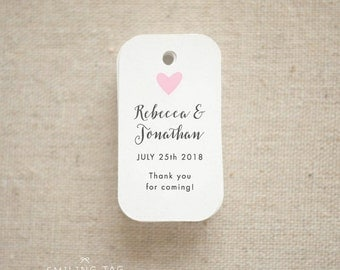 Thank you For Coming Wedding Favor Tags - Personalized Gift Tags - Bridal Shower - Thank you tags - Party Tags - (Item code: J637)