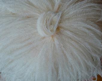 1940s Vintage Ostrich Feather Hat