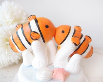 Custom Wedding Cake Toppers - Clown fish NEMO with base