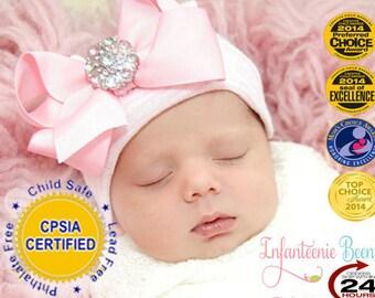 newborn girl take home outfit, NEWBORN HOSPITAL HAT, newborn  hat, newborn girl, ready to ship