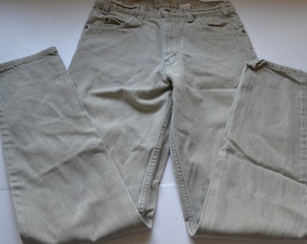Vintage Levis 550 zipper fly 80's  size W 32, L 36 Light gray Denim Jeans Orange tab made in USA
