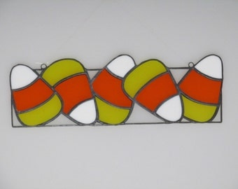 Stained Glass Candy Corn Suncatcher - Price Includes Shipping