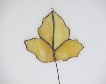Stained Glass Fall Leaf - 4 piece Suncatcher