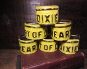 Vintage HEART of DIXIE Alabama Country Girl Boy Southern Pride License Plate Bangle Cuff Bracelet Black Yellow Distressed Jewelry Industrial