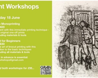 Intro to Linocut Printing - 18 June 1430-1630