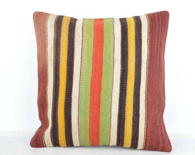 Kilim pillow, Kilim Pillow Cover k515, Turkish Pillow, Kilim Cushions, Bohemian Decor, Moroccan Pillow,  Bohemian Pillow, Turkish Kilim