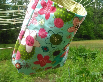Floral Hanging Clothespin Bag