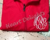 Monogrammed Rain Coat Personalized Rain Jacket