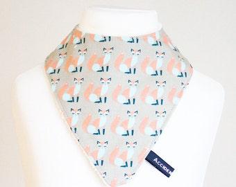 Fox dribble bib | animal bandana bib for girls and boys | new baby or toddler gift