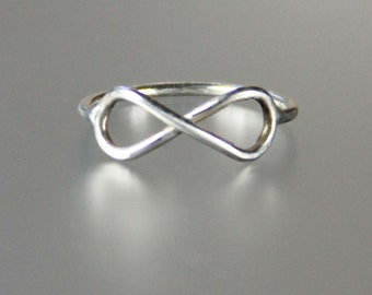 Sterling silver simple infinite ring Bridesmaids gifts Free US Shipping handmade Anni Designs