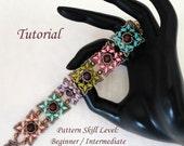 KOTAK beaded bracelet beading tutorials and patterns superduo or twin  beadwork jewelry beadweaving tutorials beading pattern instructions