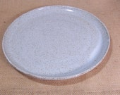Made to order set of 8 large dinner plates. 8 side plates. eight breakfast bowls. Glazed in Speckled white.
