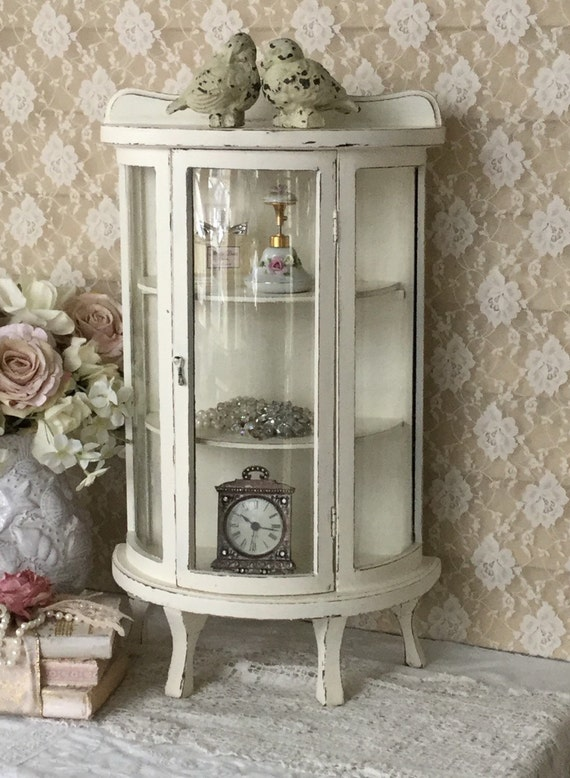 shabby curio cabinettable top curio glass cabinet stand up. Black Bedroom Furniture Sets. Home Design Ideas