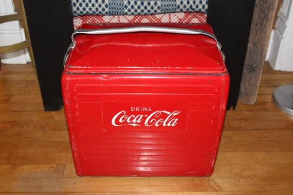 vintage coca cola cooler ice chest 1950s coke cooler. Black Bedroom Furniture Sets. Home Design Ideas