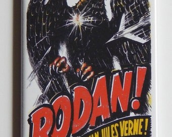 Rodan Movie Poster Fridge Magnet (1.5 x 4.5 inches)