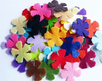 Felt Flower, felt shapes, die cut shapes, felt suply, party suplies, diy wedding, applique