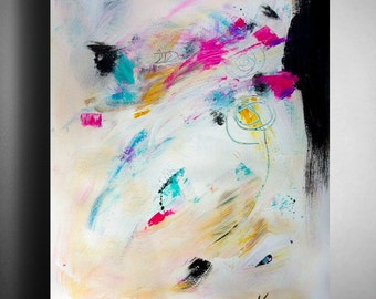 Abstract Painting Modern Abstract Art ORIGINAL ART Painting in Acrylic on paper, Large Art, 18x24 inch