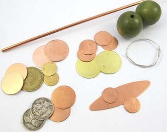 ONLINE CLASS KIT**  Supplies for Dapped, Capped, Riveted & Soldered Beads