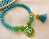 Evil eye bracelet , Turkish bracelet , gypsy bracelet , bohemian bracelet , amulet bracelet