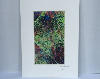 A0837  abstract art monoprint one of a kind