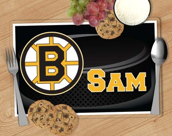 Pick your team - NHL Hockey Personalized Placemat, Customized Placemats for kids, Kids Placemat, Personalized Kids Gift