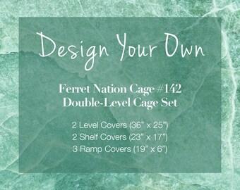 Ferret Nation Cage Custom Bedding Set (model 142) Double Level