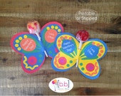 Butterfly Lollipop Personalized Valentine's Day Cards- Printable or Shipped