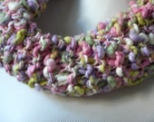 Chunky Knit Scarf Knit Cowl Chunky Knit Infinity Scarf Pastel Pink Green Lavendar Gift for Her