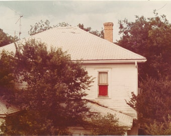 the Red Window minimalist house fine art photo vintage photography large Fine Art original mid century modern Bob Egar
