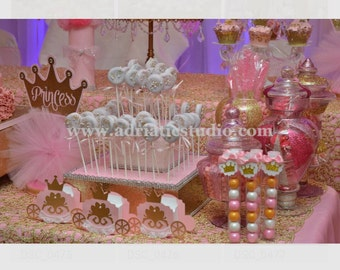 Bling Gold Cake Pop / Cup Cake / Cake Stand 2 tier