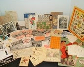Lot of Vintage Ephemera for Art Journaling, Altered Art Etc. (100 plus)