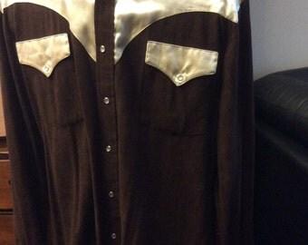 vintage men fashion ... VINTAGE MENS WESTERN Cowboy Shirt  vintage fashion    ...