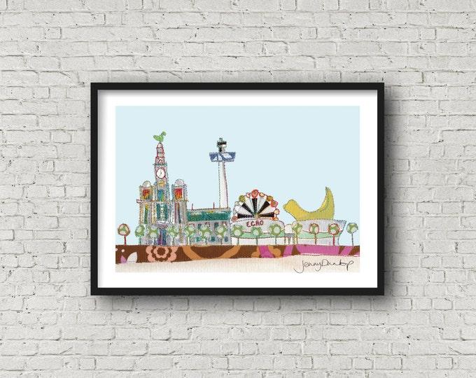 Liverpool Waterfront - Waterfront - Liverpool - Radio City Tower - Lambanana - Print