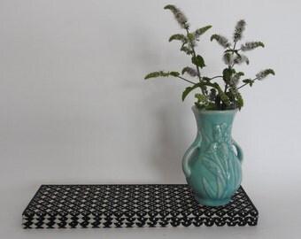 Small Vintage Aqua Irish Pattern Vase