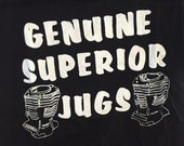 Reserved - vintage GENUINE SUPERIOR JUGS shirt - Motorcycle Shop - 1970's - Size Extra Small